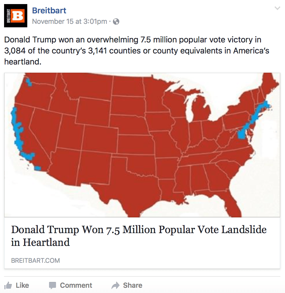 Breitbart S Phony Election Map Shows How Hard It Is To Stamp Out Fake News Vice News