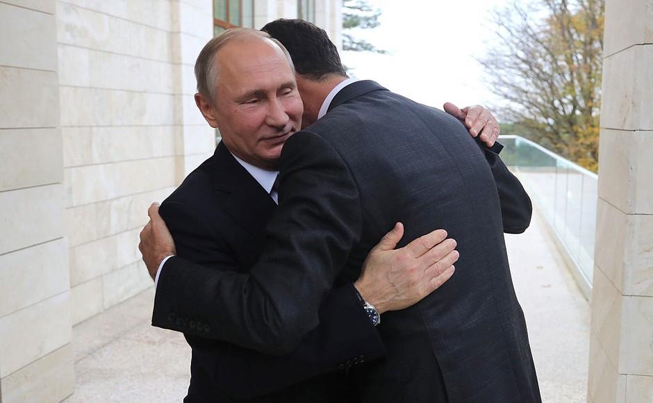 "Assad sneaked into Russia to thank Putin for ""saving"" Syria"