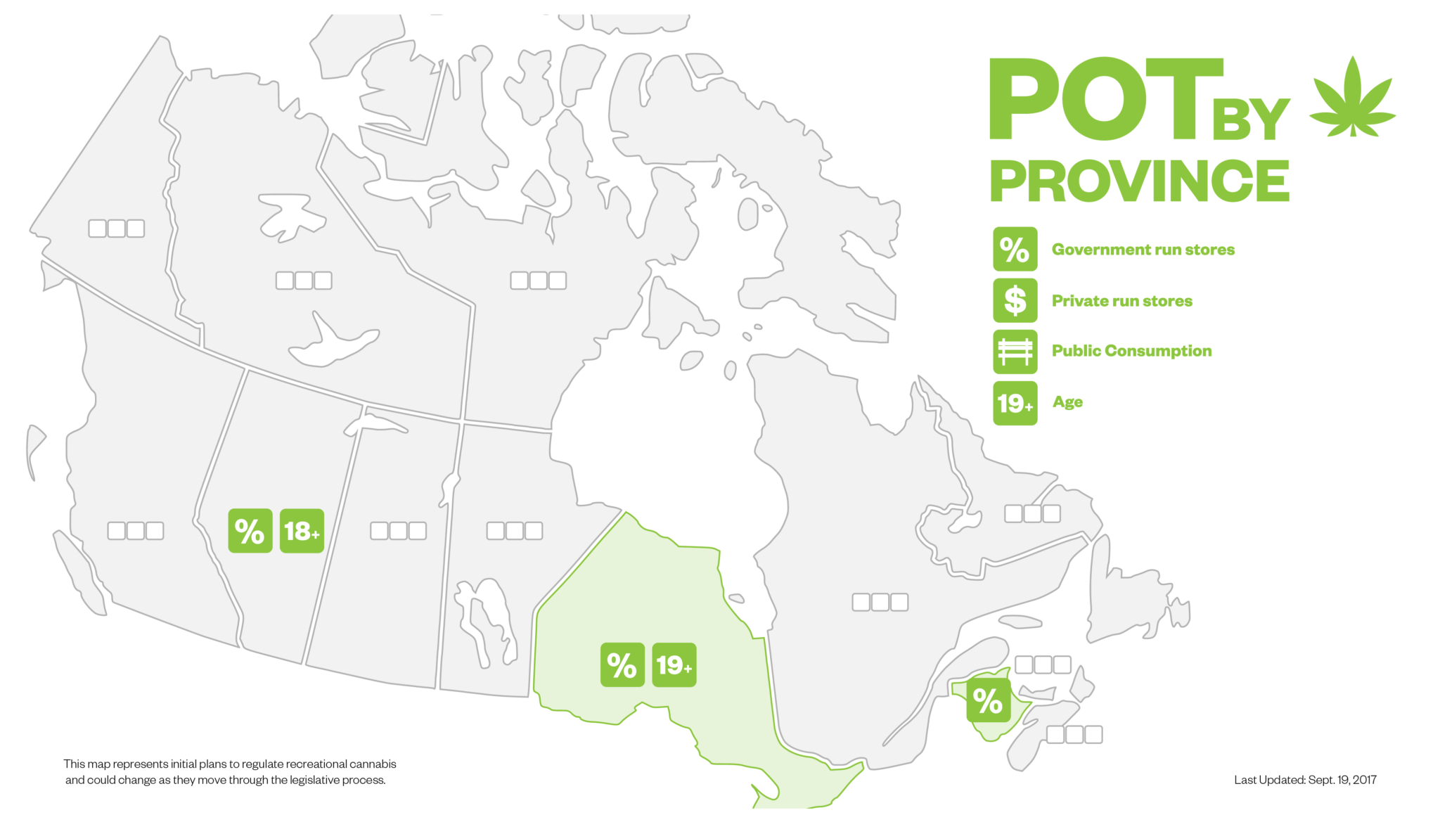 Here are canada s plans for legal weed by province so far for Affordable legal plan canada