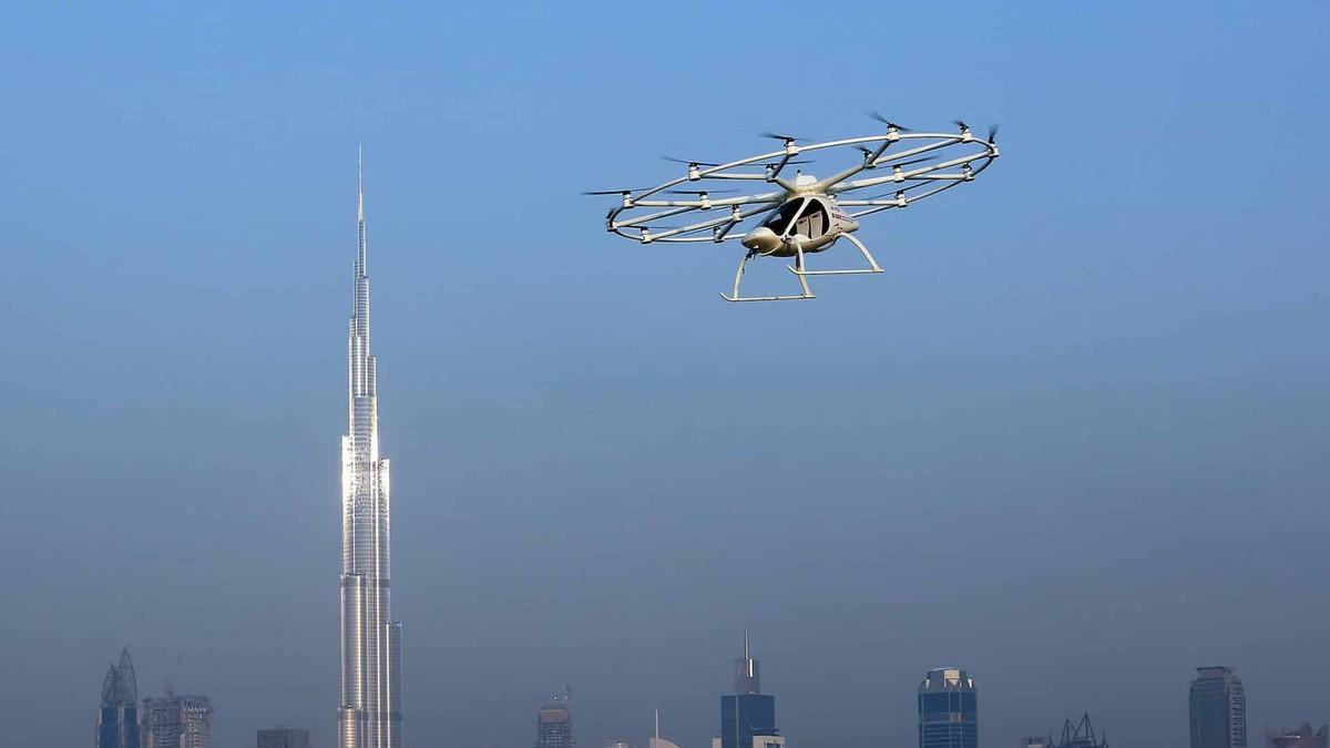 Dubai Taxi Drohne